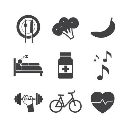 sleeping pills: Health icons on white background