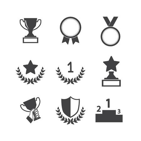 Trophy und Auszeichnungen icons set Standard-Bild - 56737471