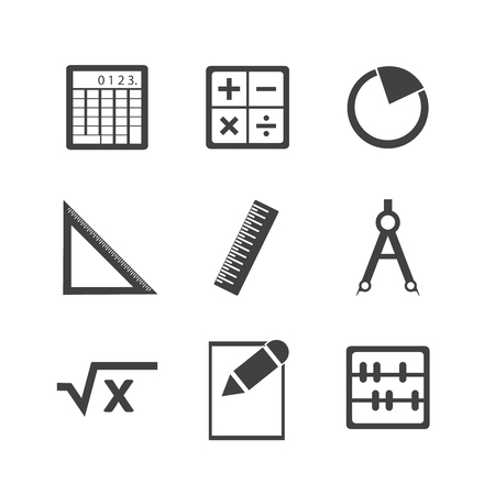 math icon: Math icon set.
