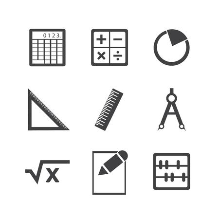 math icon: Math icon set.
