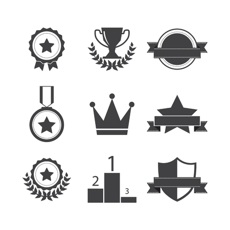 champ: Trophy and awards icons set
