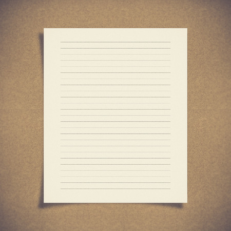 paper note: note paper with dash line on board background