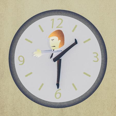 conceptual image: Conceptual image - Busy Business man Stock Photo