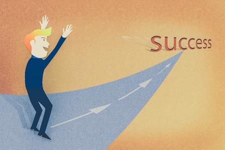 conceptual image: Conceptual image - Business man way to the success