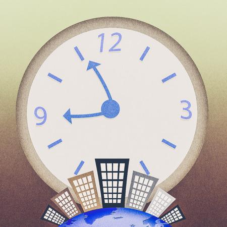 conceptual image: Conceptual image - Business time Stock Photo