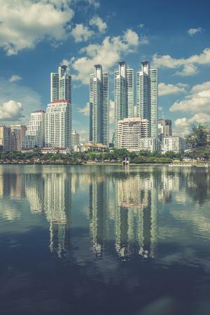 highrise: Highrise modern building in Bangkok, Thailand. (Vintage filter effect used)