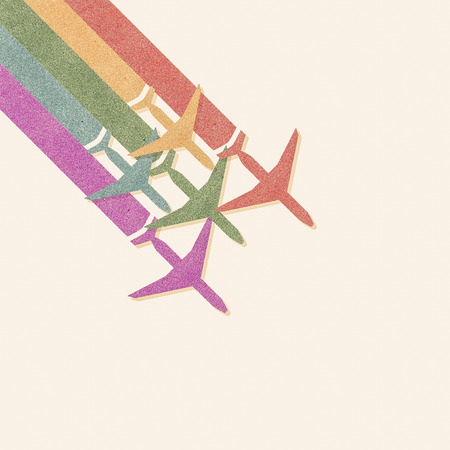 Paper texture,Colorful Airplanes