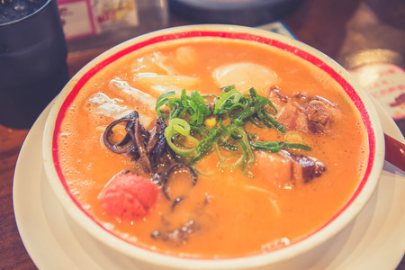 imminent: Miso japanese ramen which is a little bit spicy, Japan