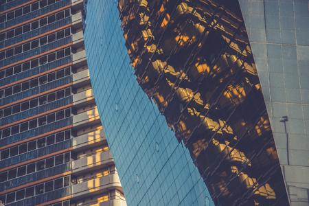 modern illustration: highrise glass building Stock Photo