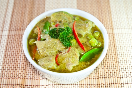 beef or chicken green curry photo