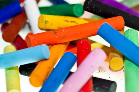 Group of colorful oil pastels  photo