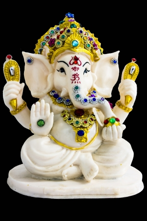 Hindu god Ganesh on the shelf photo