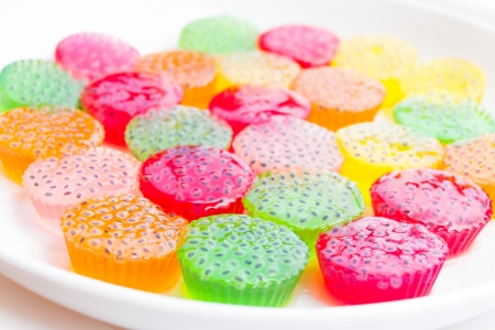 colorful Thai dessert called jelly photo