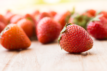 strawberries in natural background 免版税图像