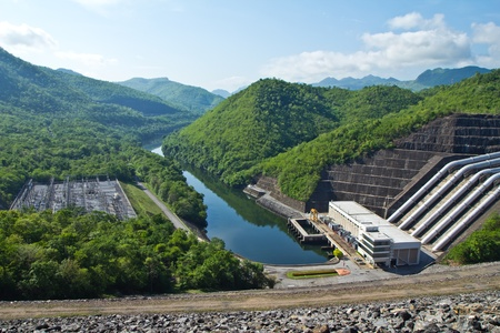 sustainable development: dam power plant Stock Photo