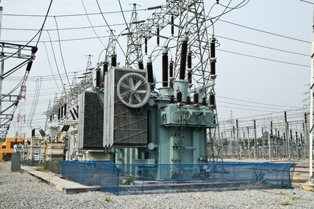substation: High voltage transformer