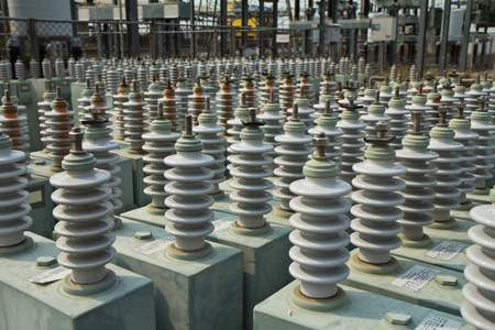capacitor: capacitor bank in high voltage substation