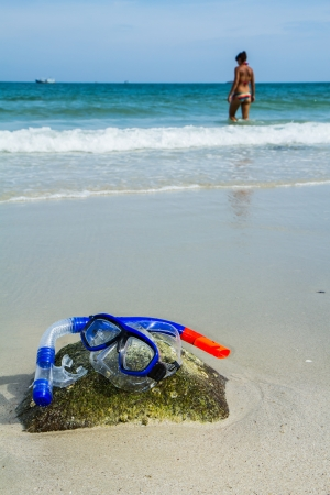 Snorkel and Mask Stock Photo