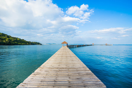 Beautiful Jetty in thailand Stock Photo
