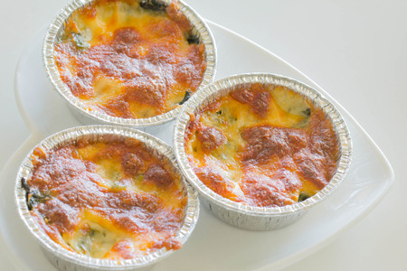 Spinach gratin Stock Photo