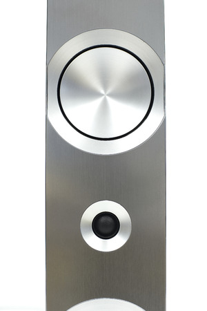 surround system: Speaker premium surround sound system with full-size cabinet that small