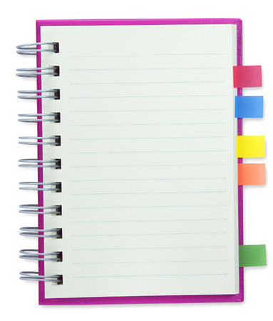 blank notebook Pink cover isolate with clipping path Stock Photo