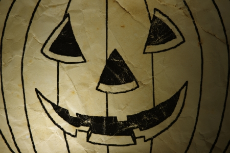 Old paper Halloween of ghost Pumpkin background