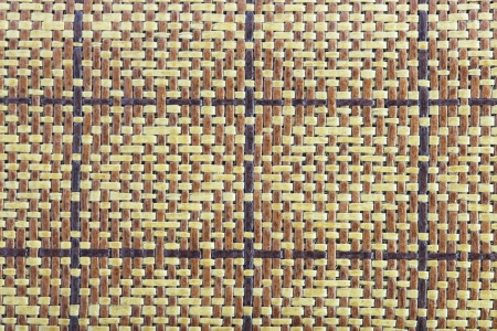 straw mat: Wicker wood texture as background Stock Photo