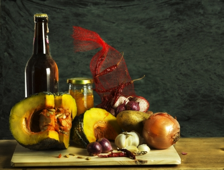 still life of Ingredients in the kitchen   photo