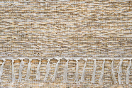 straw mat: Woven wood and thread pattern or texture background