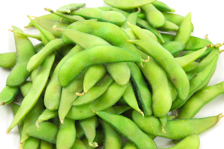nibbles: edamame nibbles, boiled green soy beans ,vegetarian food