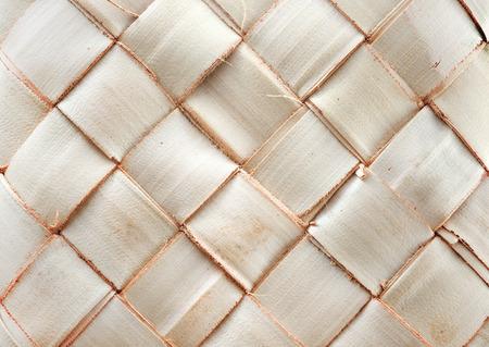interlocking: Zigzag interlocking of coconut leaves