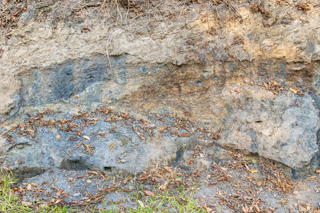 severely: Soil under the foothills of the mountain, which was severely eroded.