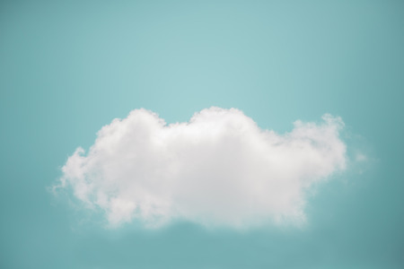 skie: vintage cloud on blue sky