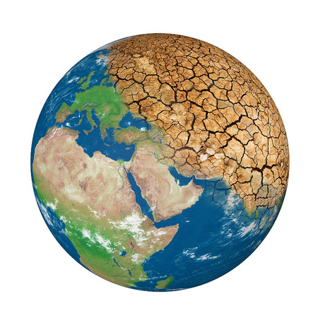 dire: global warming Earth Concept on Earth day 22 April