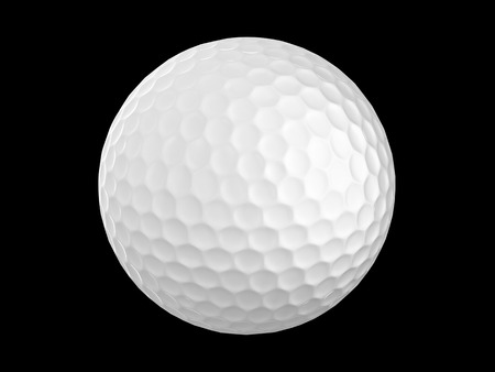 golf ball: 3d golf ball isolate on black