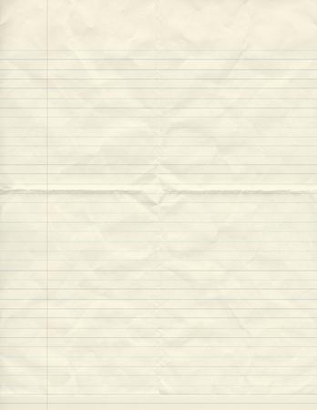 werden zerknitterten Vintage-Papier ausgekleidet Standard-Bild