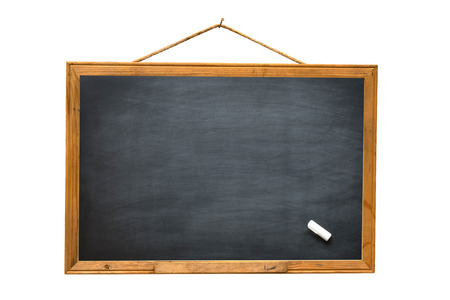 Empty black board isolate white background