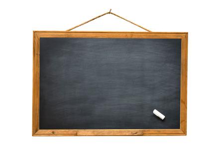 Empty black board isolate white background
