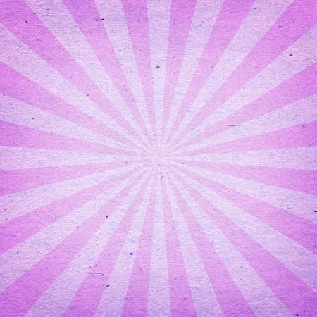lucero: Vintage Patr�n Sunburst. Fondo radial hecha de papel reciclado de color rosa y morado