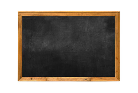 Old wood chalk board isolate white background