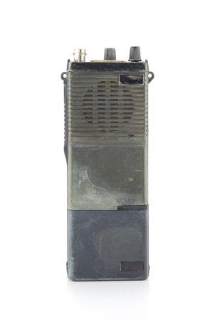 cb phone: Vintage radio communication isolate on white ,retro tecnology