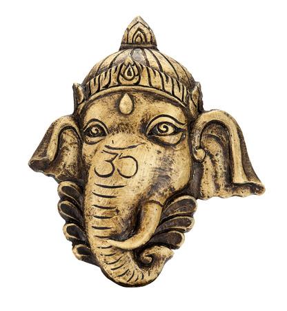 ganesh: Escultura de Ganesh aislar en blanco Foto de archivo