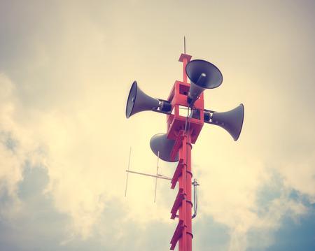 relaciones publicas: altavoz de la sirena de la vendimia para las relaciones públicas