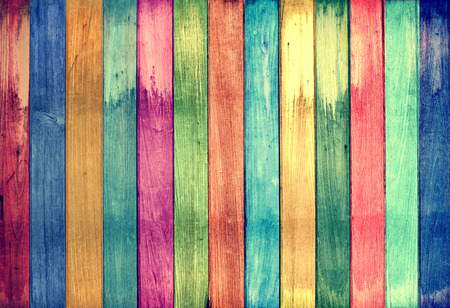 color: vintage colorful wood background