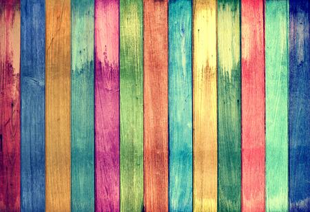 case colorate: Vintage sfondo colorato in legno