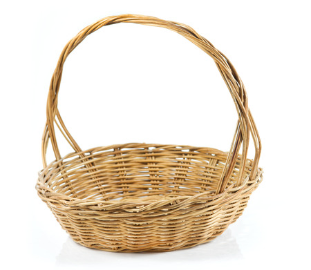 Wood Basket isolate on white