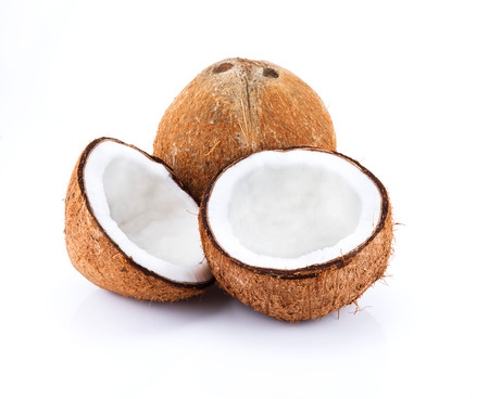 Close Up Coconut isolate on white photo