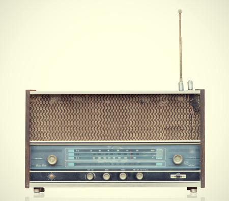 Vintage Radio isolate on white ,retro tecnology photo