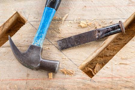 gouge: gouge wood chisel carpenter  tool hammer